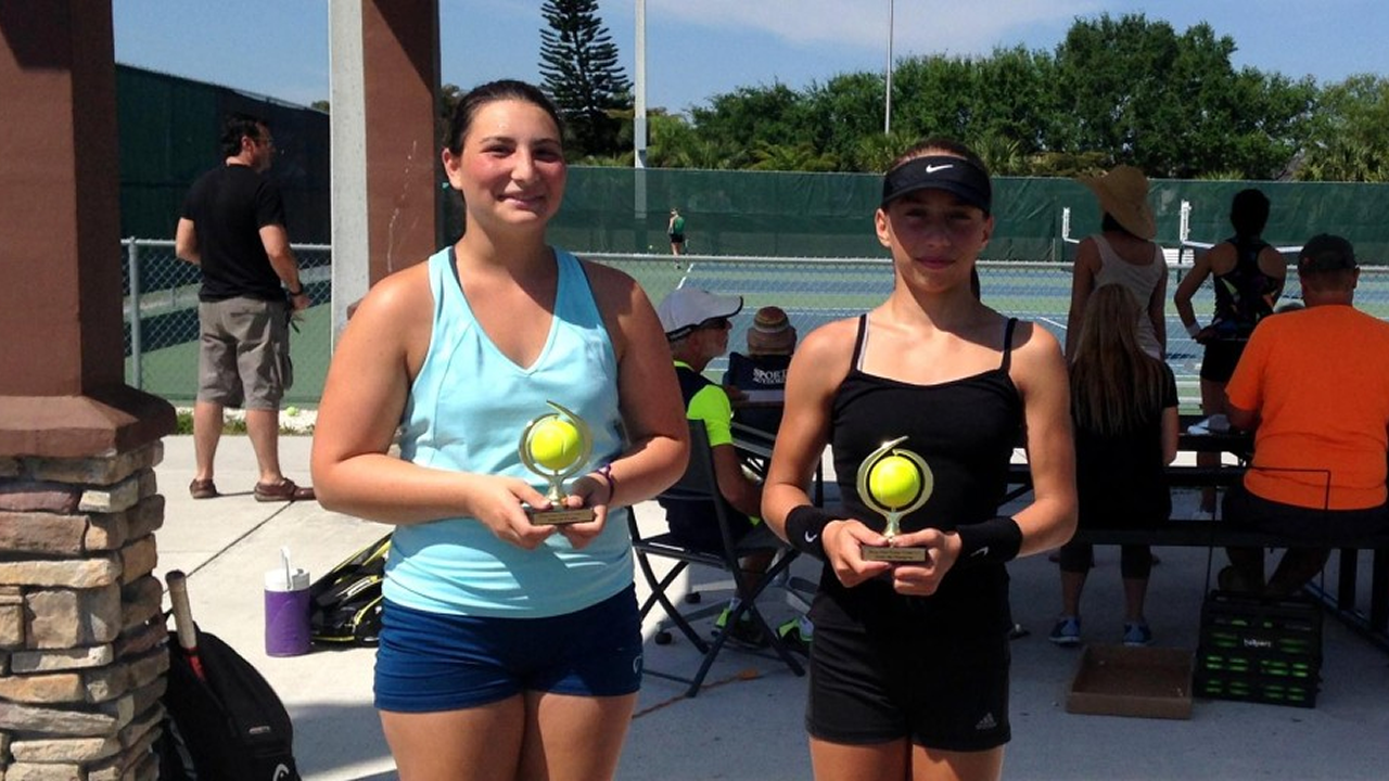 Nikki Yanez Champion of the Girls 16's Tournament in Fort Myers